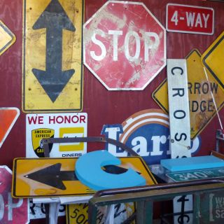 Salvaged street signs