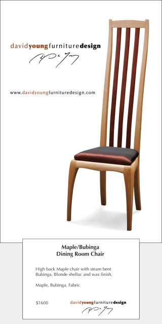 Maple/Bubinga Dining Room Chair Postcard