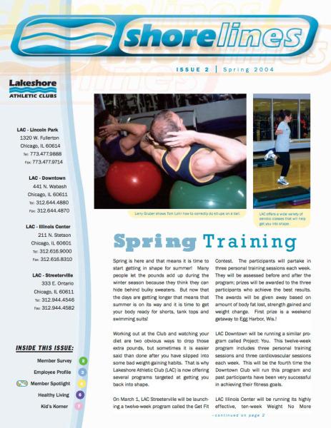 Shorelines, Spring 2004 Cover