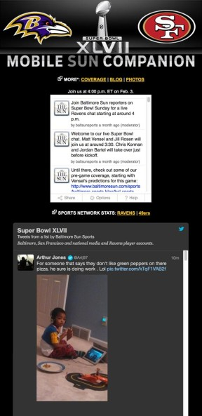 Super Bowl XLVII mobile game companion