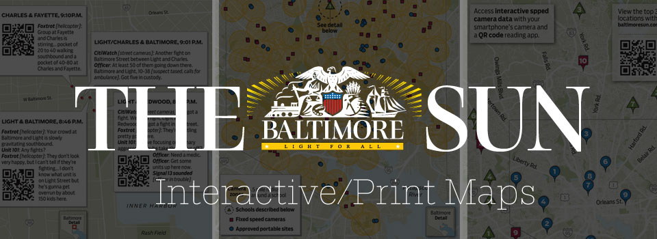 Baltimore Sun Interactive/Print Maps