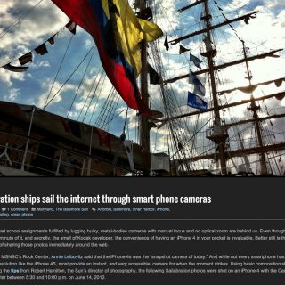 Sailabration ships sail the internet through smart phone cameras